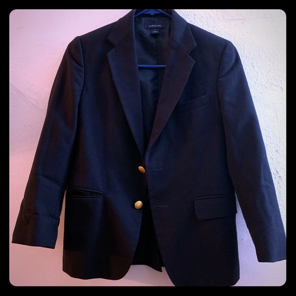 Lands End School Uniform Boys Hopsack Blazer